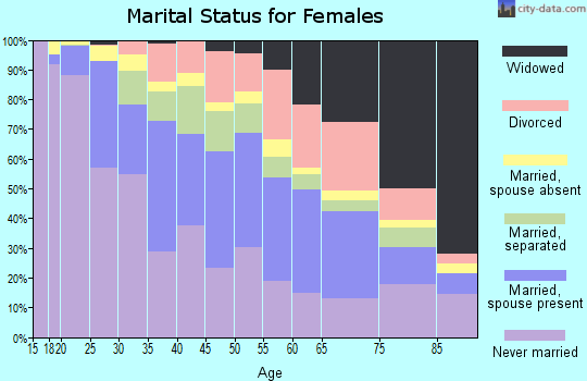 Zip code 11691 marital status for females