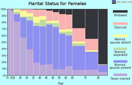 Zip code 11706 marital status for females