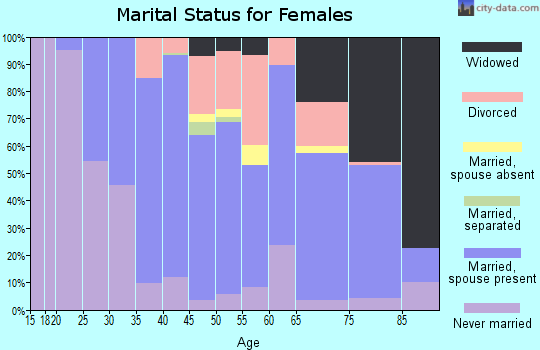 Zip code 11709 marital status for females