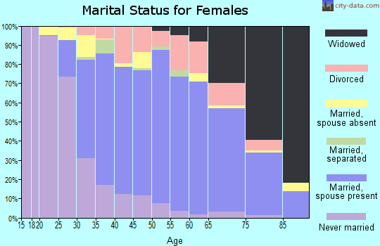 Zip code 11720 marital status for females