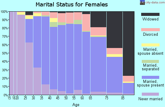 Zip code 11731 marital status for females