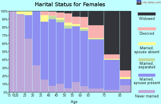 Zip code 11743 marital status for females
