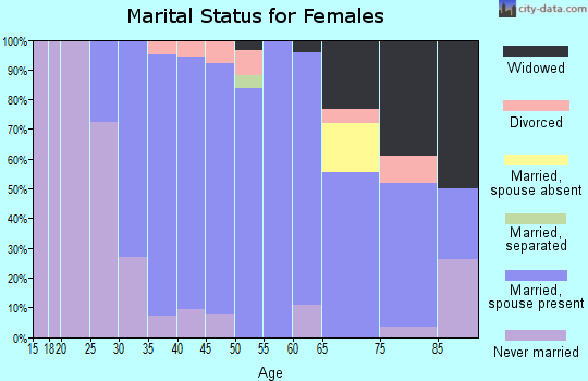 Zip code 11804 marital status for females