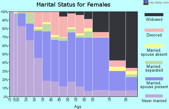 Zip code 12010 marital status for females