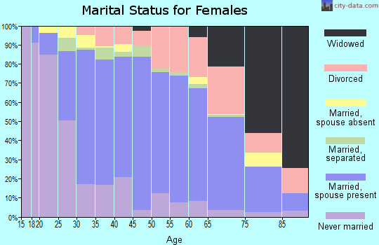 Zip code 12020 marital status for females