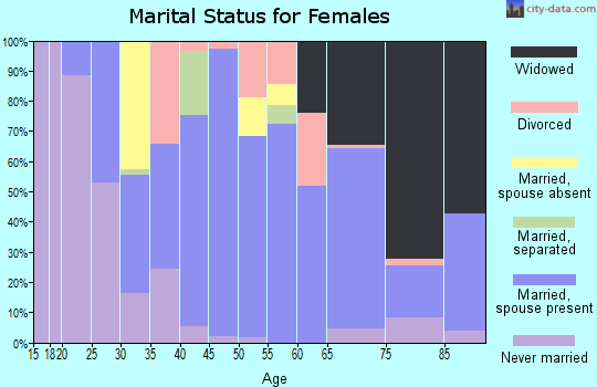 Zip code 12025 marital status for females