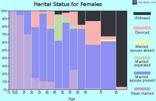 Zip code 12066 marital status for females