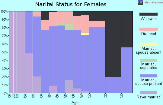 Zip code 12074 marital status for females