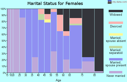 Zip code 12083 marital status for females