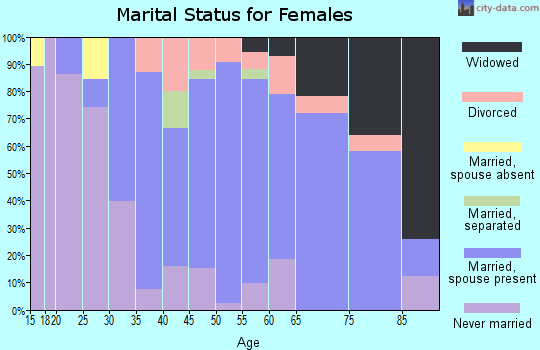 Zip code 12143 marital status for females