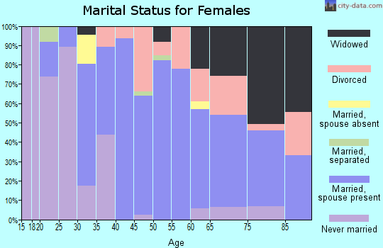 Zip code 12197 marital status for females
