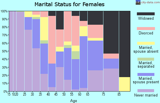Zip code 12204 marital status for females