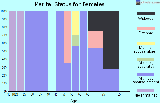 Zip code 12481 marital status for females