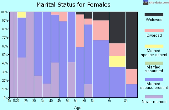 Zip code 12529 marital status for females
