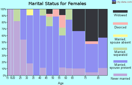 Zip code 12567 marital status for females