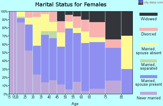 Zip code 12589 marital status for females