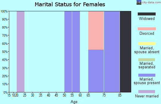 Zip code 12749 marital status for females
