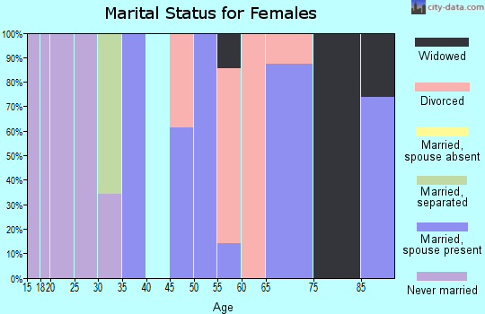 Zip code 12763 marital status for females
