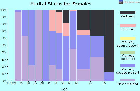 Zip code 12783 marital status for females