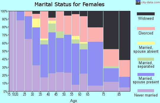 Zip code 12801 marital status for females