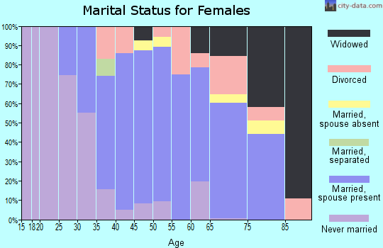 Zip code 12809 marital status for females