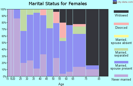 Zip code 12912 marital status for females