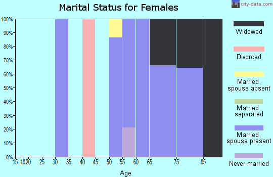 Zip code 12952 marital status for females