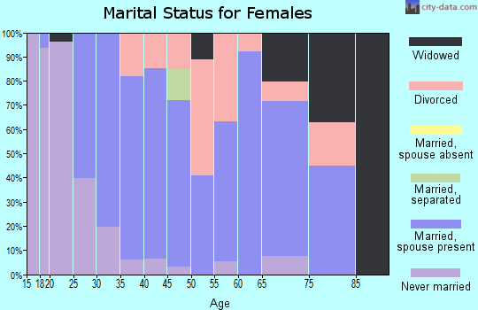 Zip code 13029 marital status for females