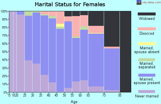 Zip code 13039 marital status for females