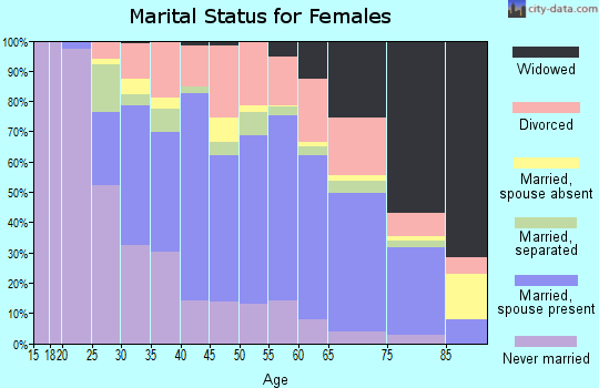 Zip code 13045 marital status for females