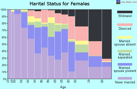 Zip code 13205 marital status for females