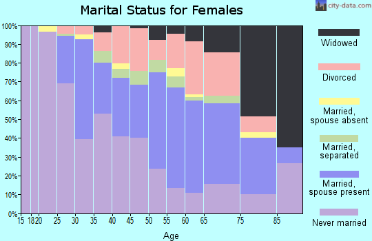 Zip code 13207 marital status for females