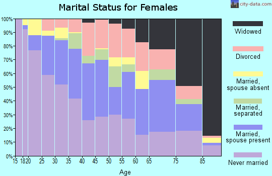 Zip code 13208 marital status for females