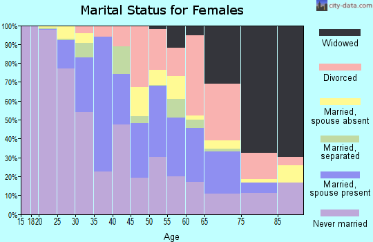 Zip code 13210 marital status for females