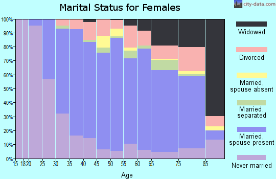 Zip code 13215 marital status for females