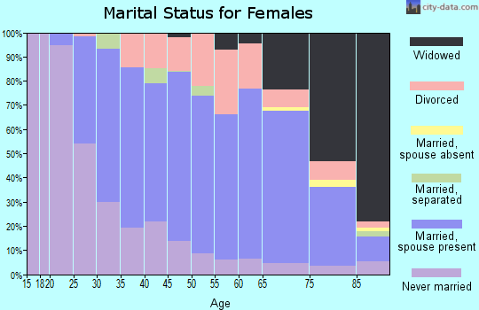 Zip code 13219 marital status for females