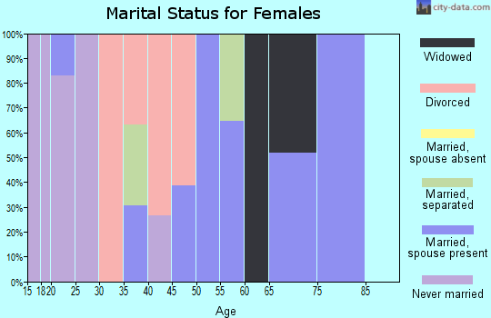Zip code 13319 marital status for females