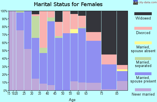 Zip code 13365 marital status for females