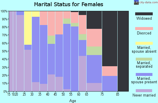 Zip code 13408 marital status for females