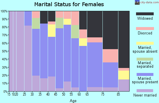 Zip code 13424 marital status for females