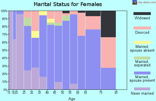 Zip code 13471 marital status for females