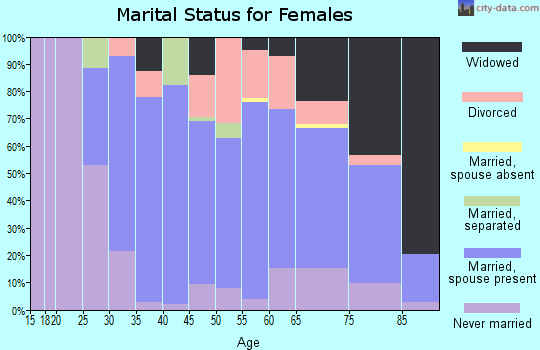 Zip code 13617 marital status for females