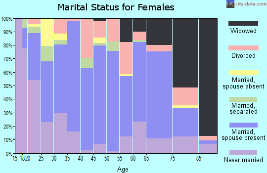 Zip code 13619 marital status for females