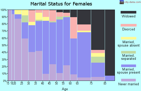 Zip code 13642 marital status for females