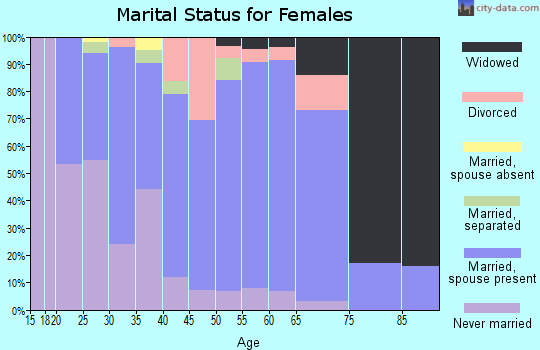 Zip code 13646 marital status for females