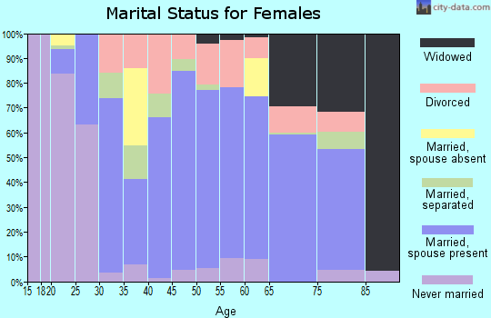 Zip code 13733 marital status for females