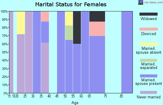 Zip code 13786 marital status for females
