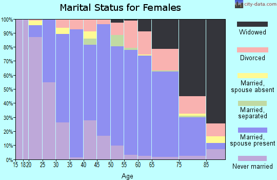 Zip code 13850 marital status for females