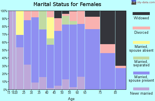 Zip code 13865 marital status for females