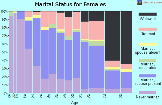 Zip code 13901 marital status for females